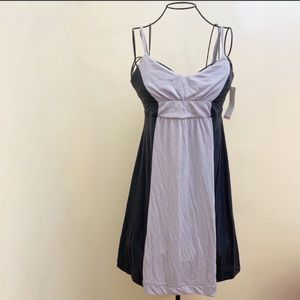 Liz Lange Maternity Dress Sleeveless Straps Gray